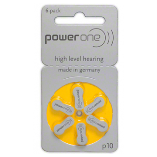 Size 10, P10, hearing aid batteries
